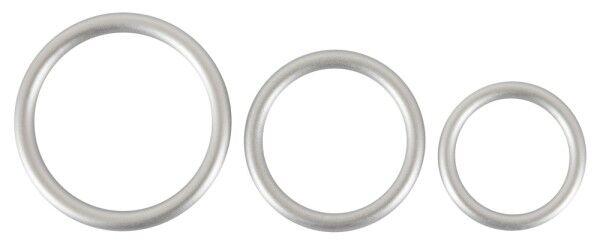 Metallic Silicone Cock Ring Set